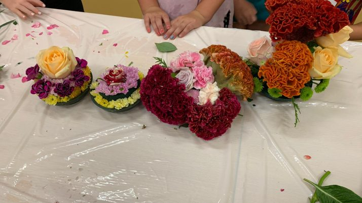 Wat een leuke bloemstukjes zijn er weer gemaakt!