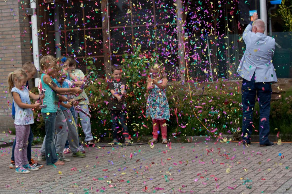 Feestelijke knal opening Woutje Brugge speelweek