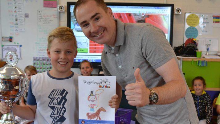Hayk den Hollander winnaar Woutje tekenwedstrijd 2017!